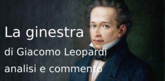 La ginestra Leopardi, analisi e commento