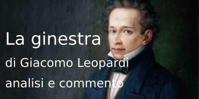 La ginestra di Giacomo Leopardi, analisi e commento