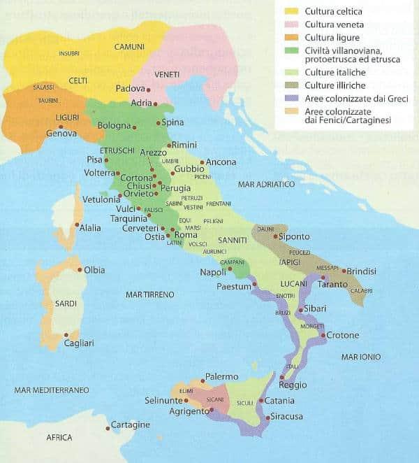 Mappa Dellitalia Antica.Popoli Italici L Italia Prima Di Roma Studia Rapido