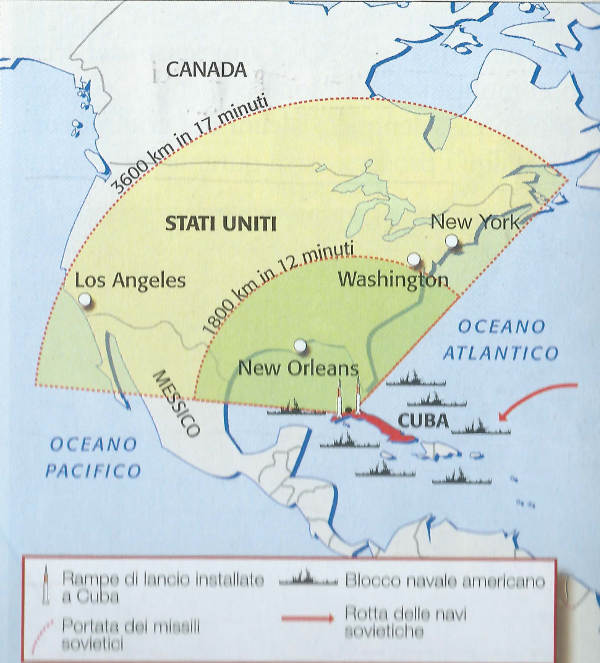 La crisi di Cuba: missili puntati contro gli Stati Uniti