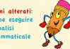 Nomi alterati: come eseguire l'analisi grammaticale