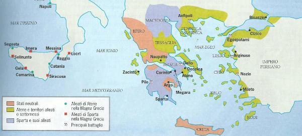 La pace di Nicia tra Sparta e Atene, riassunto
