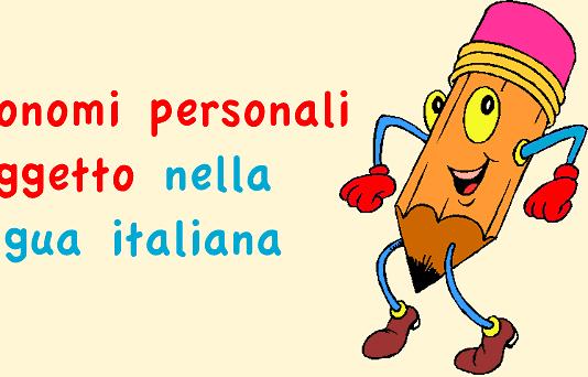 Pronomi personali soggetto nella lingua italiana