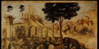 Adorazione dei Magi di Leonardo da Vinci dopo il restauro