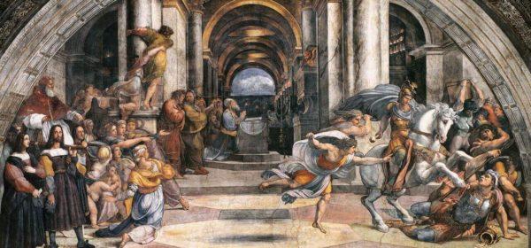 Raffaello, La cacciata di Eliodoro dal Tempio, Stanza di Eliodoro
