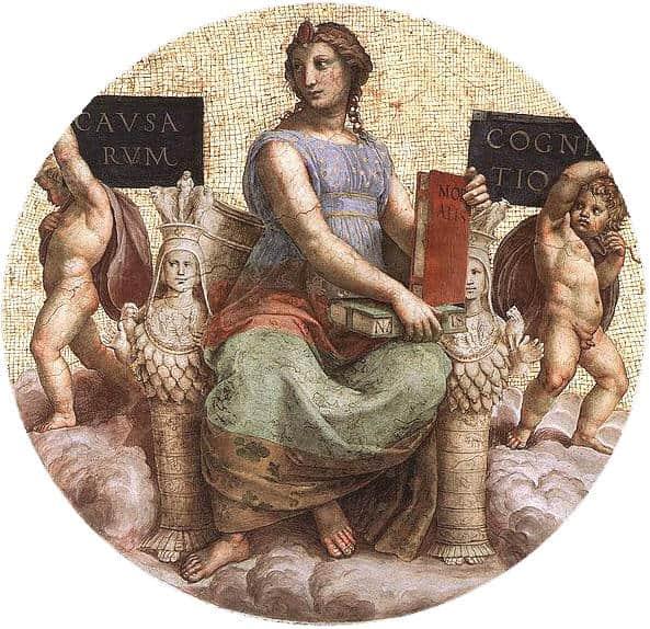Raffaello, La Filosofia, volta della Stanza della Segnatura