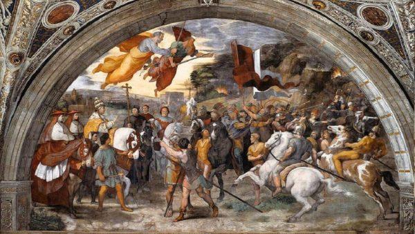Raffaello, Incontro di San Leone Magno con Attila, Stanza di Eliodoro