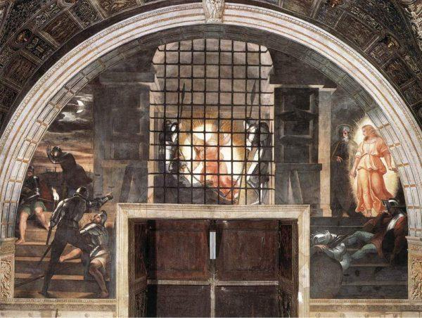 Raffaello, La liberazione di San Pietro, Stanza di Eliodoro