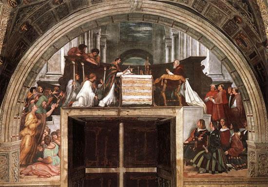 Raffaello, La Messa di Bolsena, Stanza di Eliodoro