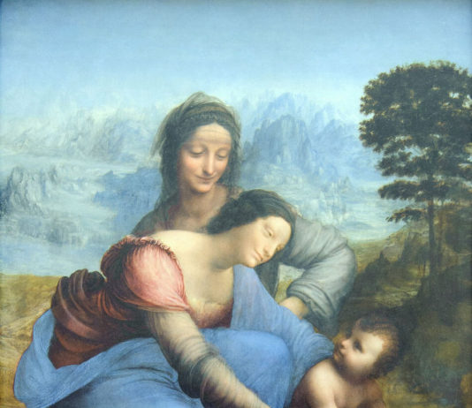 Sant'Anna, la Vergine e il Bambino con l'agnello di Leonardo da Vinci