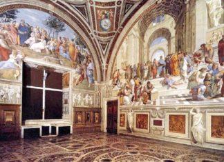 La Stanza della Segnatura di Raffaello nei Musei Vaticani