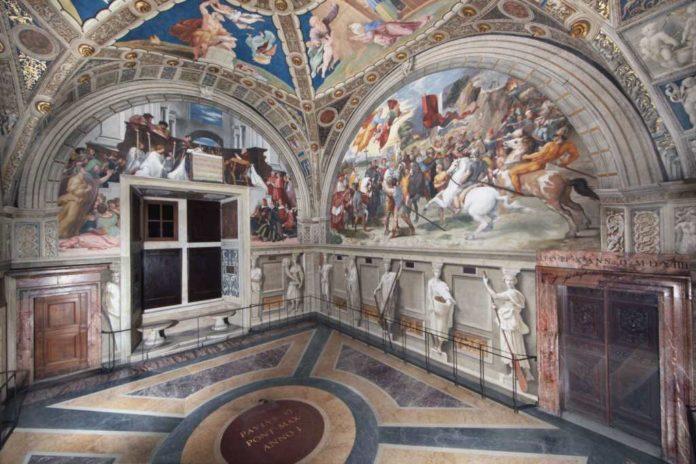 La Stanza di Eliodoro di Raffaello nei Musei Vaticani