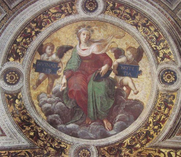 Raffaello, La Teologia, volta della Stanza della Segnatura