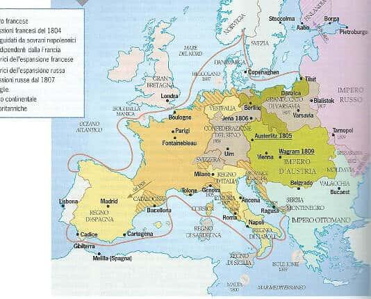 Blocco continentale imposto da Napoleone, 1812