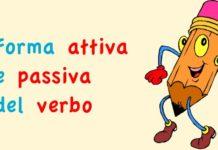 Forma attiva e passiva del verbo