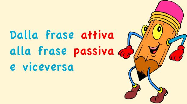 Dalla frase attiva alla frase passiva e viceversa