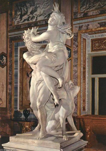 Gian Lorenzo Bernini, Ratto di Proserpina, 1621-1622, marmo, h. 225 cm. Roma, Galleria Borghese