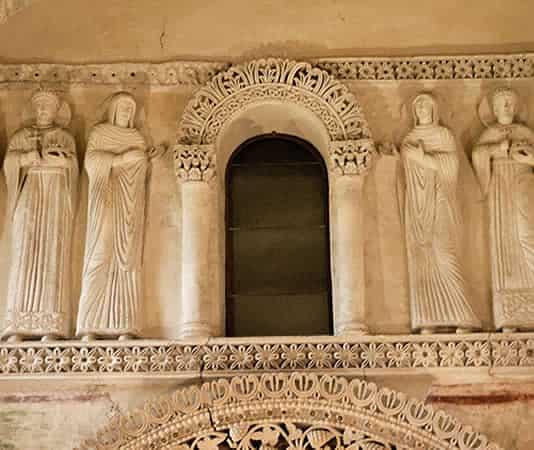 Arte longobarda: Tempietto di Santa Maria a Cividale del Friuli (Udine), VIII secolo, particolare
