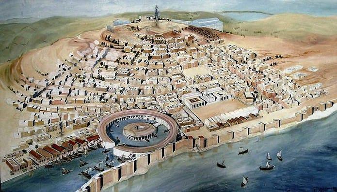 Ricostruzione di Cartagine e del suo porto