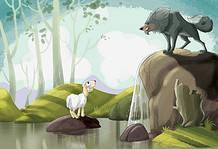 Il lupo e l'agnello, favola di Fedro, riassunto e morale