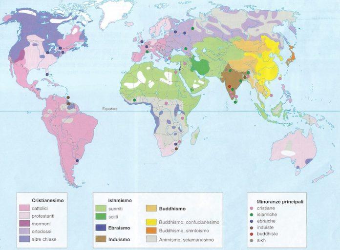 Rligioni più diffuse al mondo