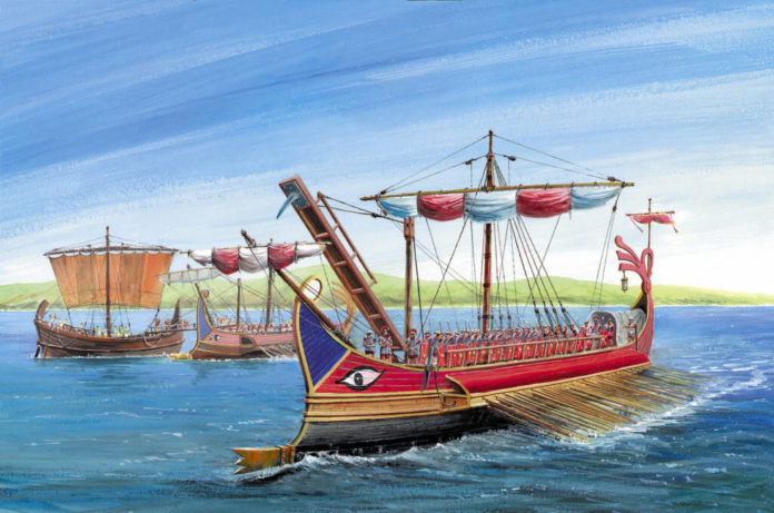 Trireme, nave da guerra greca