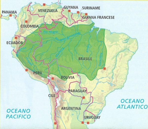 La regione dell'Amazzonia