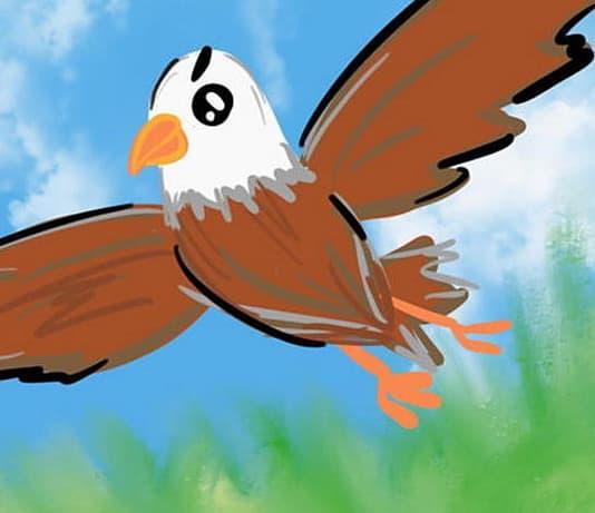 aquila dalle ali mozze e la volpe - Esopo, versione e morale