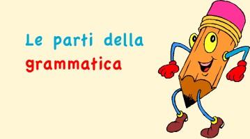 Le parti della grammatica italiana
