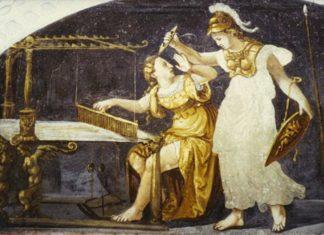Aracne, la fanciulla trasformata in ragno da Atena