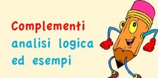 Complementi analisi logica ed esempi