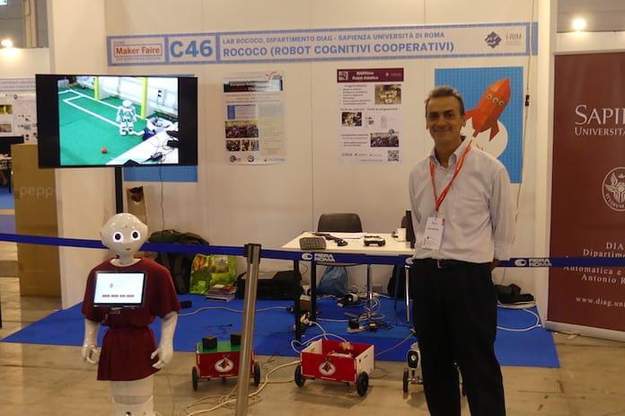 Luca Iocchi, professore del DIAG, esperto di robotica a scuola
