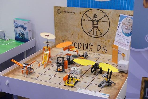 Il coding da Vinci: piccoli robot montabili che simulano le invenzioni di Leonardo da Vinci