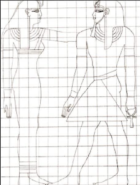 Arte egizia: canone di rappresentazione pittorica