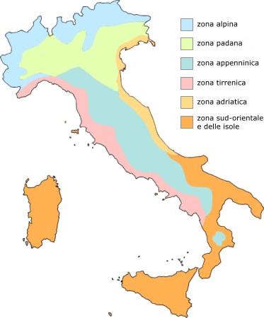 Il clima in italia: alpino, continentale, mediterraneo