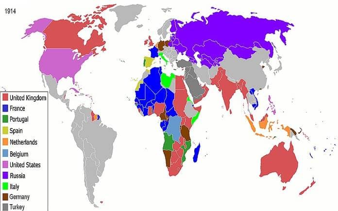 L'imperialismo e la spartizione dell'Africa e dell'Asia