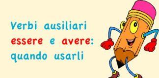 Verbi essere e avere: i verbi ausiliari