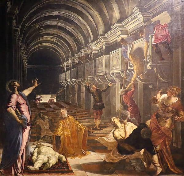 Tintoretto, Ritrovamento del corpo di San Marco, 1562-1566