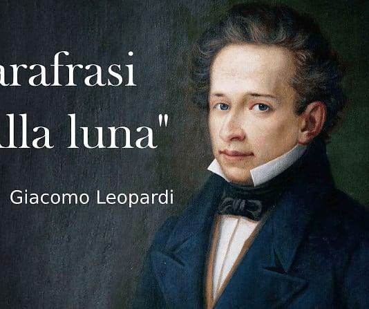 Parafrasi Alla luna di Giacomo Leopardi