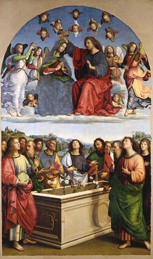 Raffaello , Incoronazione della Vergine