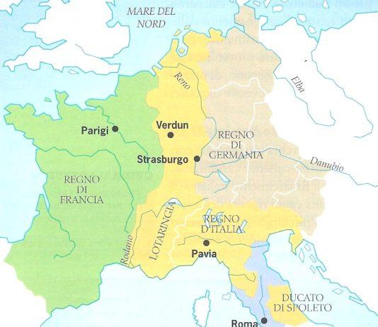 Impero carolingio dopo la morte di Carlo Magno