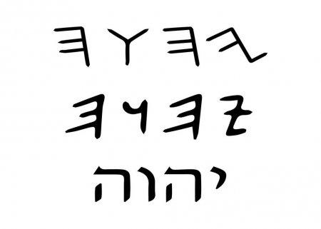 YHWH il tetragramma o quadrilittero biblico