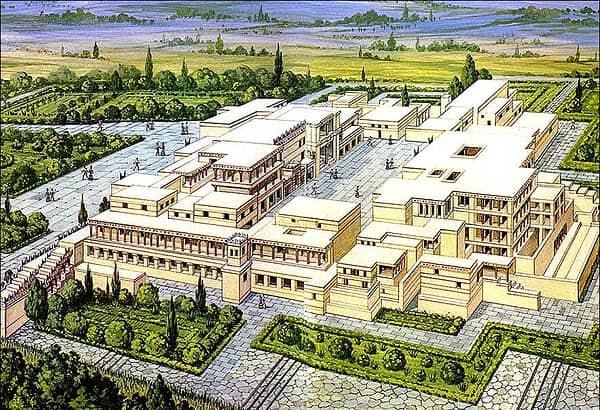 ricostruzione del palazzo di cnosso